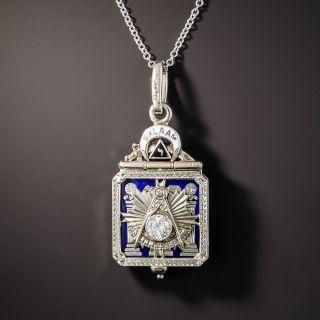Scottish Rite 32 Degree Masonic Diamond and Enamel Pendant/Fob c.1930 - 2