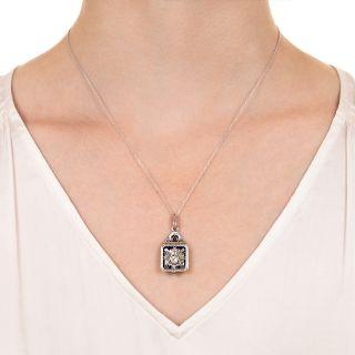 Scottish Rite 32 Degree Masonic Diamond and Enamel Pendant/Fob c.1930