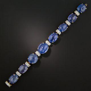 Seaman Schepps Cabochon Sapphire and Diamond Bracelet - 165 Carats - 8