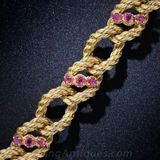 Shreve & Co. 18k Gold and Ruby Bracelet