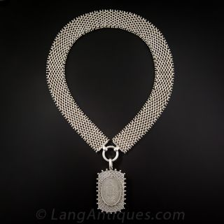Silver Chain and Locket