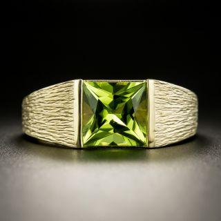 Sleek 2.30 Carat Princess Cut Peridot Ring - 1