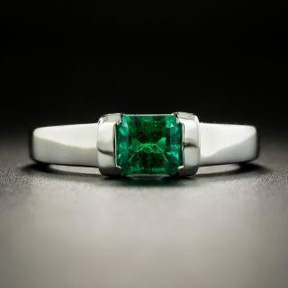 Sleek .74 Carat Emerald Ring - 2