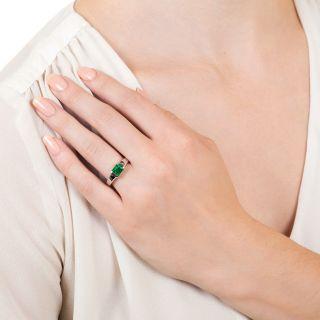 Sleek .74 Carat Emerald Ring