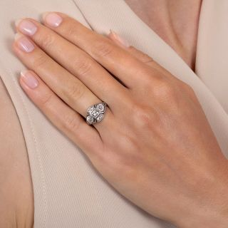 Art Deco Three-Stone Diamond Engagement Ring