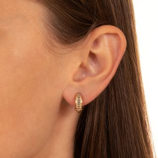 Diamond Half-Hoop Earrings by Oscar Heyman