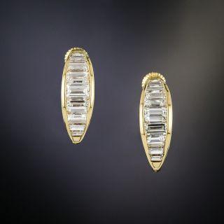 Diamond Half-Hoop Earrings by Oscar Heyman - 2