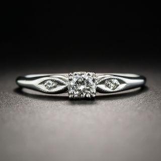 Small Mid-Century Diamond Wedding Set