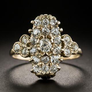 Small Victorian Diamond Dinner Ring - 1