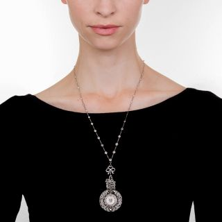 Spectacular Edwardian Necklace with Pendant Watch
