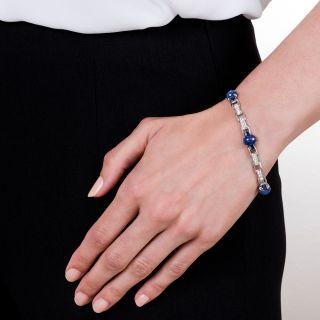 Star Sapphire and Diamond Bracelet