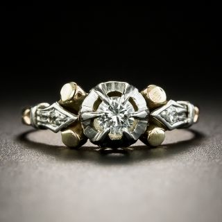 Late Art Deco .22 Carat Diamond Engagement Ring - 3