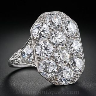 Stunning Art Deco Diamond Dinner Ring