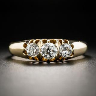 Swedish Vintage Three-Stone ring Diamond Ring - Size 11 - 2