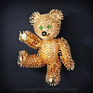 Teddy Bear Brooch - 1