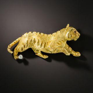 Textured Tiger Brooch by George Lederman - 2