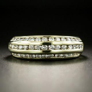 Three-Row Channel Set Diamond Band Ring - 2