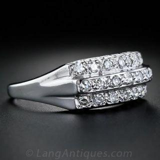 Three-Row Diamond Wedding Band