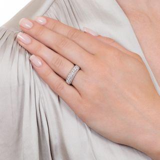 Three Row Domed Diamond Band Ring