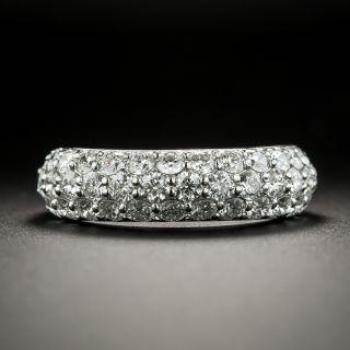 Three Row Domed Diamond Ring - 2