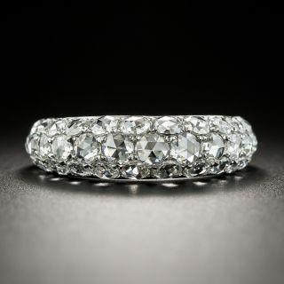 Three-Row Rose-Cut Diamond Dome Ring  - 3