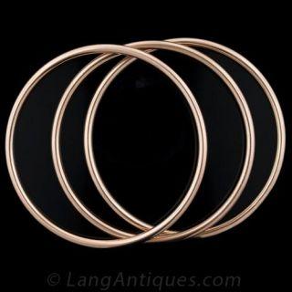 Three Vintage 9K Rose Gold Bangle Bracelets
