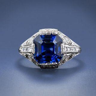 Tiffany & Co. Art Deco Sapphire and Diamond Ring