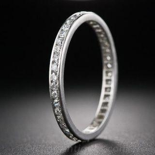 Tiffany & Co. Vintage Platinum and Diamond Eternity Band - Size 9 1/4