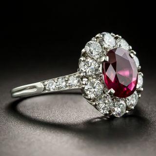 Tiffany & Co. 1.56 Carat No-Heat Burmese Ruby & Diamond Ring GIA