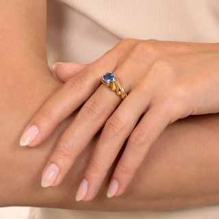 Tiffany & Co. 1.70 Carat No-Heat Sapphire Solitaire Ring