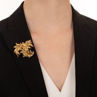Tiffany & Co. 18K Leaf Brooch