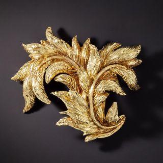 Tiffany & Co. 18K Leaf Brooch - 1