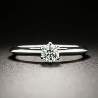 Tiffany & Co. .25 Carat Solitaire Diamond Ring - GIA E VVS2 - 3