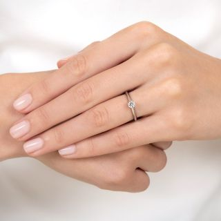 Tiffany & Co. .25 Carat Solitaire Diamond Ring - GIA E VVS2