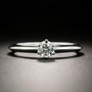 Tiffany & Co. .30 Carat Diamond Solitaire Ring  - F VS1 - 2