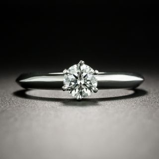 Tiffany & Co. .47 Carat Diamond Solitaire Engagement Ring - 2