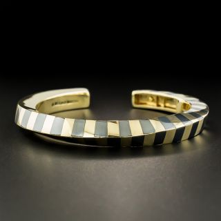 Tiffany & Co./Angela Cummings Hematite and Gold Bangle Bracelet - 3