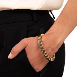 Tiffany & Co./Angela Cummings Hematite and Gold Bangle Bracelet