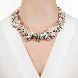 Tiffany & Co. Angela Cummings Sterling Silver Leaf Necklace