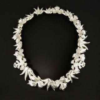 Tiffany & Co. Angela Cummings Sterling Silver Leaf Necklace - 3
