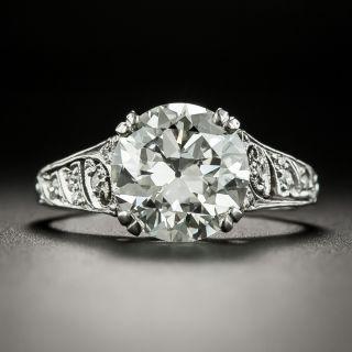 Art Deco Tiffany & Co. 3.27 Carat Diamond Engagement  Ring - GIA  I VS1 - 2