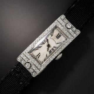 Tiffany & Co. Art Deco Diamond and Platinum Watch - 2