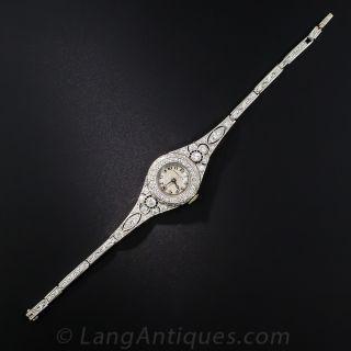 Tiffany & Co. Art Deco Diamond Watch with Original Box