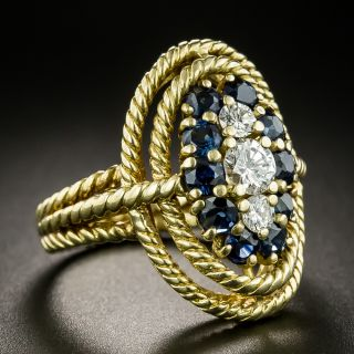 Tiffany & Co. Diamond and Sapphire Ring