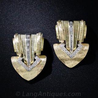 Tiffany & Co. Double Diamond Clips - 1