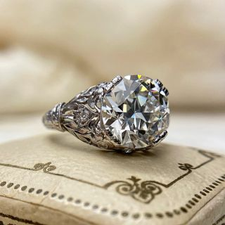 Tiffany & Co. Early-Art Deco 3.68 Carat Diamond Engagement Ring - GIA J VS1