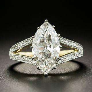 Tiffany & Co. Edwardian 2.71 Carat MarquiseDiamond Ring - GIA Faint Pinkish-Brown VS1 - 2
