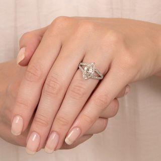 Tiffany & Co. Edwardian 2.71 Carat MarquiseDiamond Ring - GIA Faint Pinkish-Brown VS1