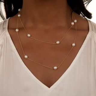 Tiffany & Co. Elsa Peretti Pearls-by-the-Yard Necklace