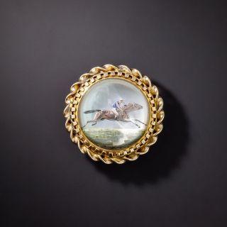 Tiffany & Co. Essex Style Rock Crystal Equestrian Brooch - 1